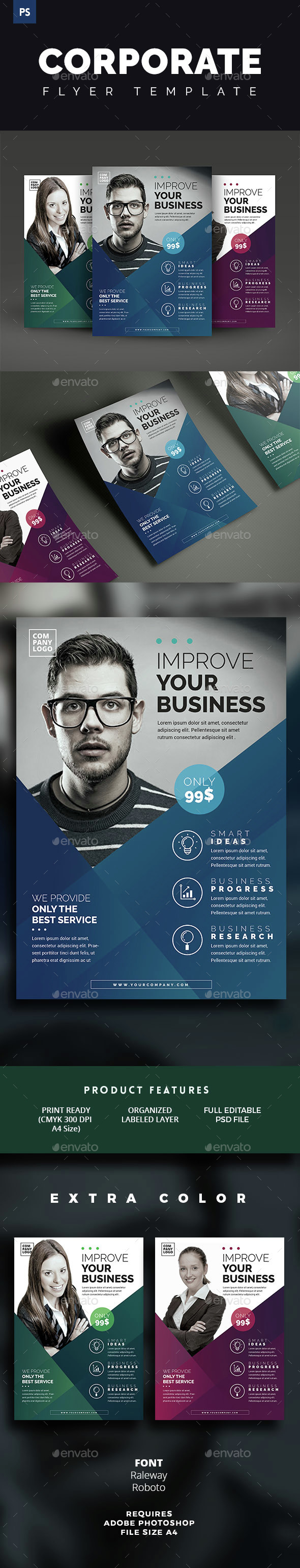 Corporate Flyer Template By Vynetta Graphicriver