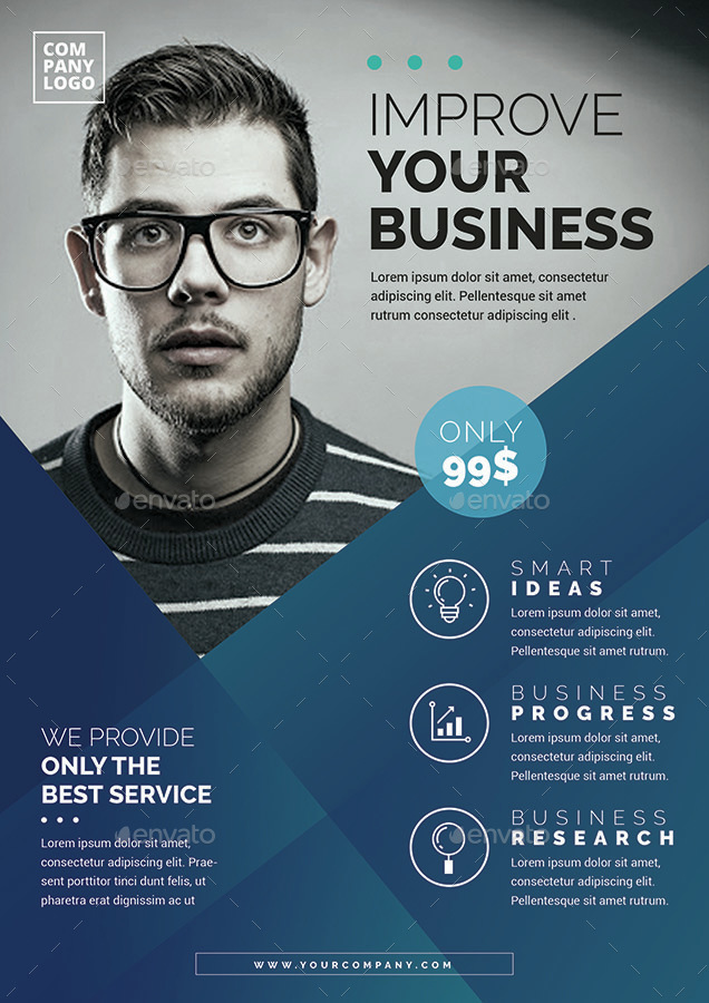 corporate flyer template by vynetta
