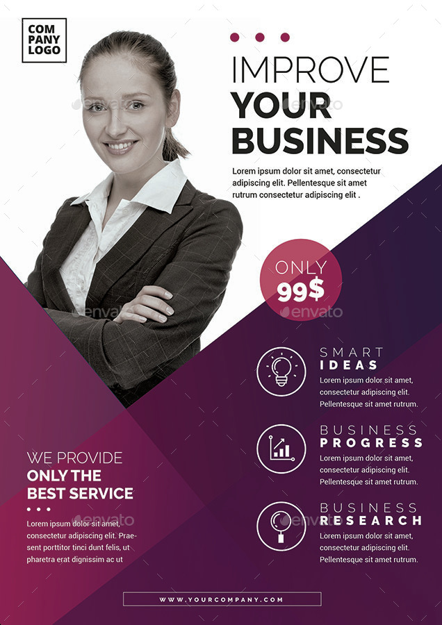 Corporate Flyer Template By Vynetta | Graphicriver