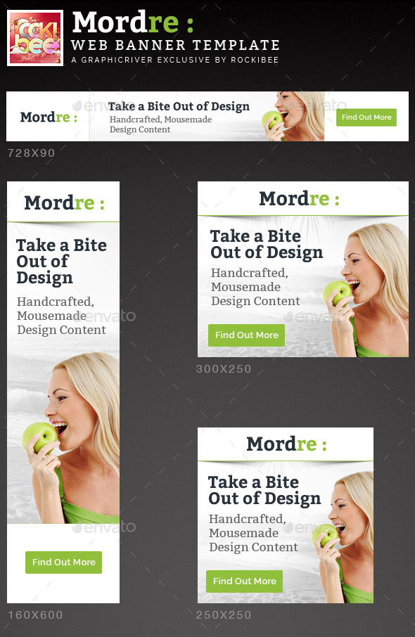 Mordre Web Banner Template - Banners & Ads Web Elements