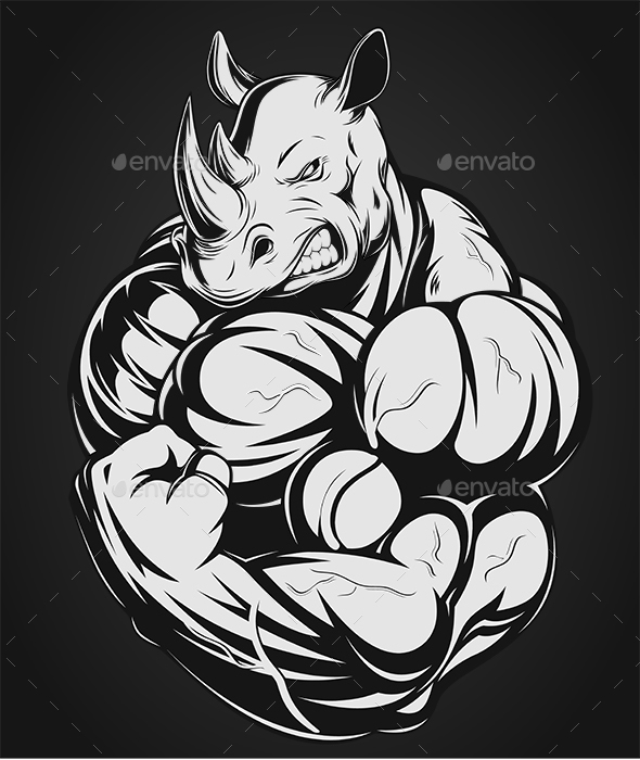Strong Rhinoceros - Sports/Activity Conceptual