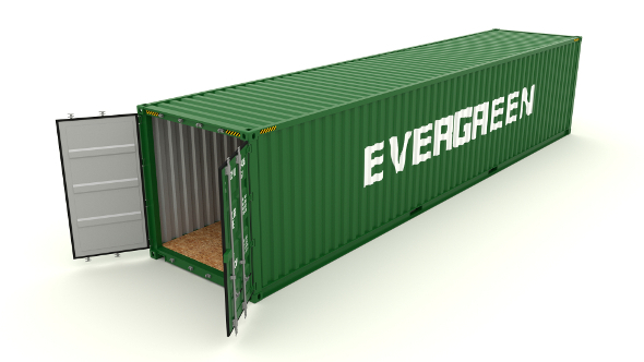 Shipping Container Evergreen - 3DOcean Item for Sale