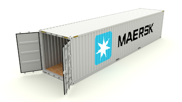 Shipping Container Maersk - 3DOcean Item for Sale
