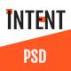 Intent — MultiPurpose Business/Personal Portfolio PSD Template