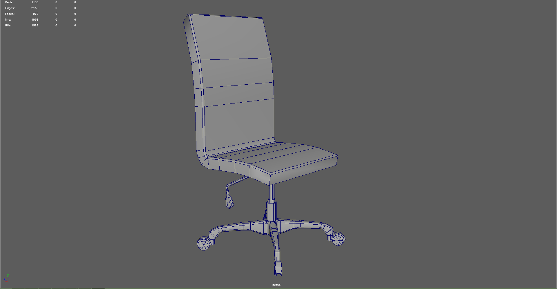 Office Chair Low Poly by dikaQQ 3DOcean