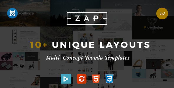 Zap – Responsive Multi-Purpose Joomla template