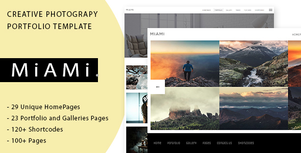 Miami – Creative Photography Portfolio Template