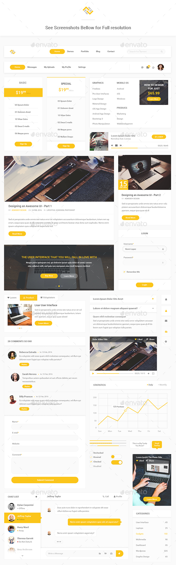 Lizar - Modern Web User Interface - User Interfaces Web Elements