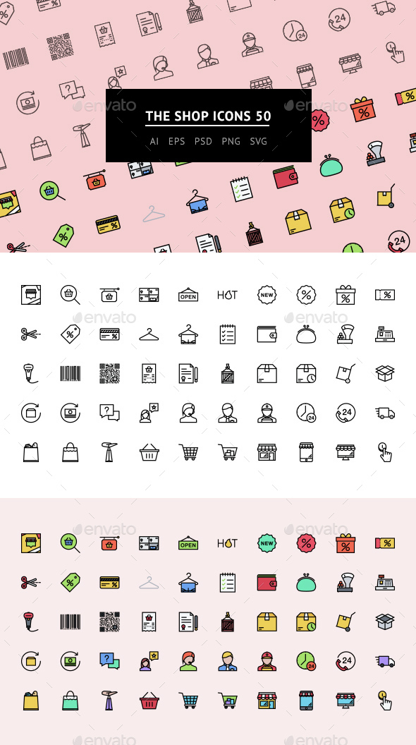 The Shop Icons 50 - Web Icons