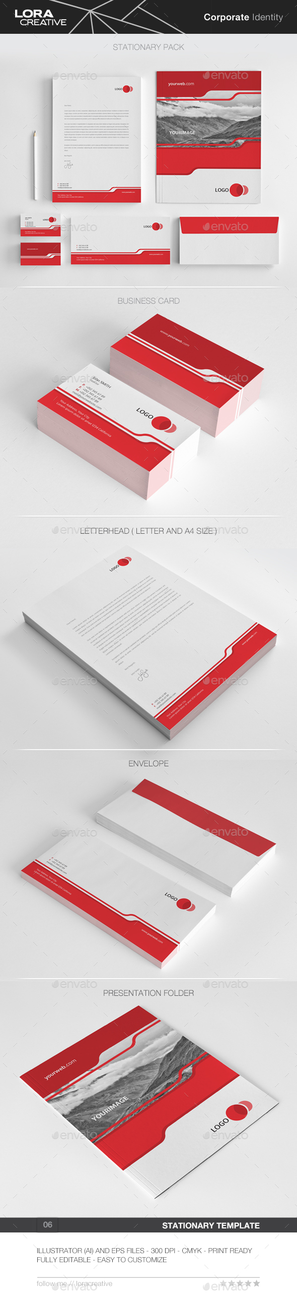 Cool Concept Stationary Pack - 06 - Stationery Print Templates