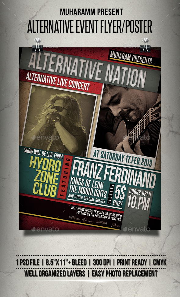 Alternative Event Flyer / Poster - Events Flyers