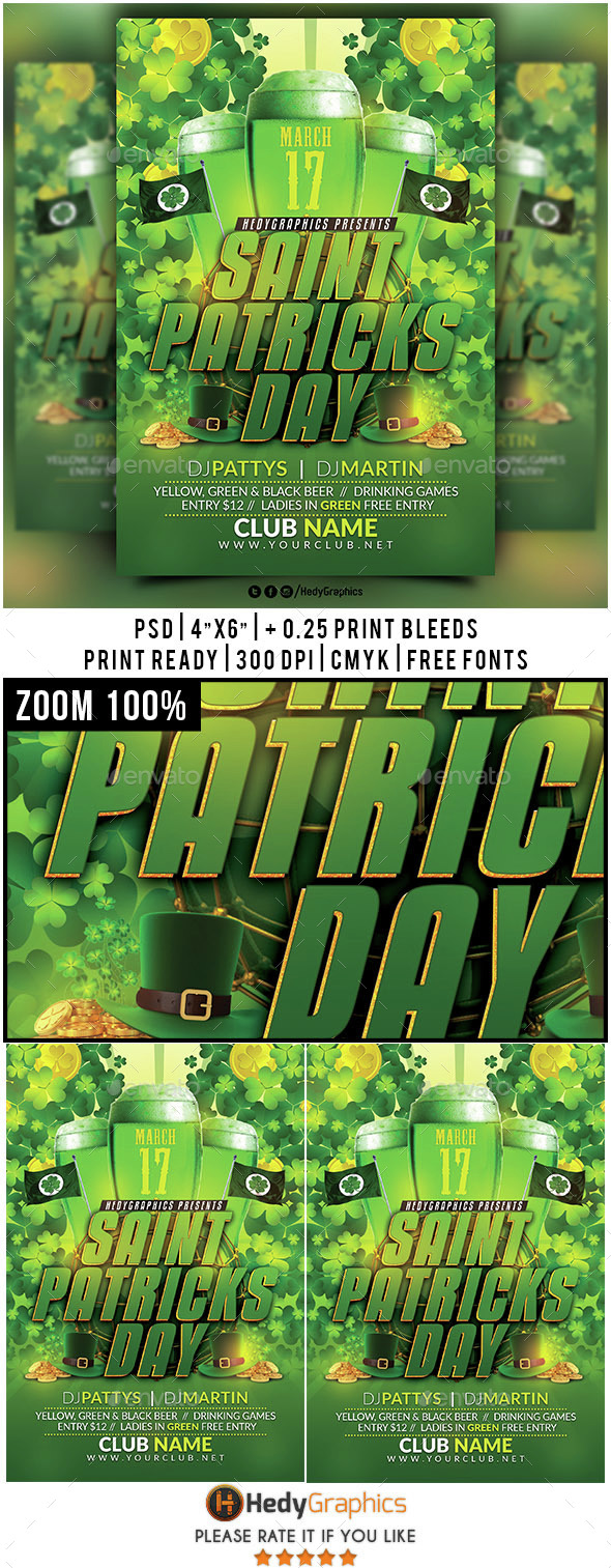 Saint Patricks Day- Flyer Template - Clubs & Parties Events