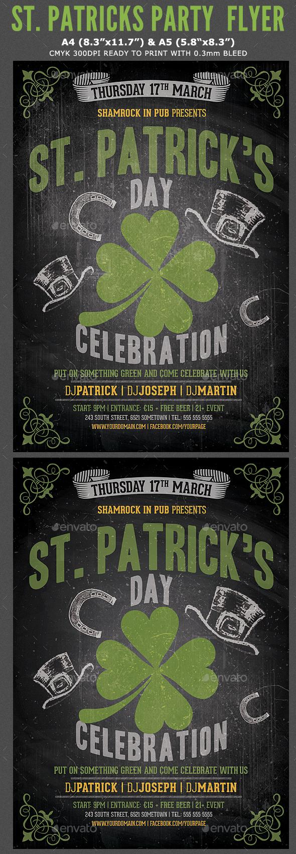 Saint Patrick's Party Flyer Template - Events Flyers
