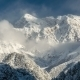 Clouds Opened Peaks Mountain - VideoHive Item for Sale