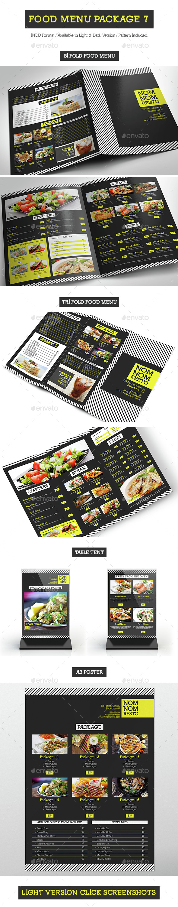 Food Menu Package 7 - Food Menus Print Templates