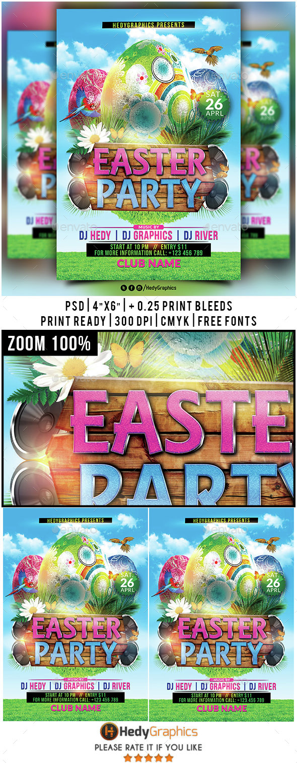 Easter Party - Flyer Template - Clubs & Parties Events