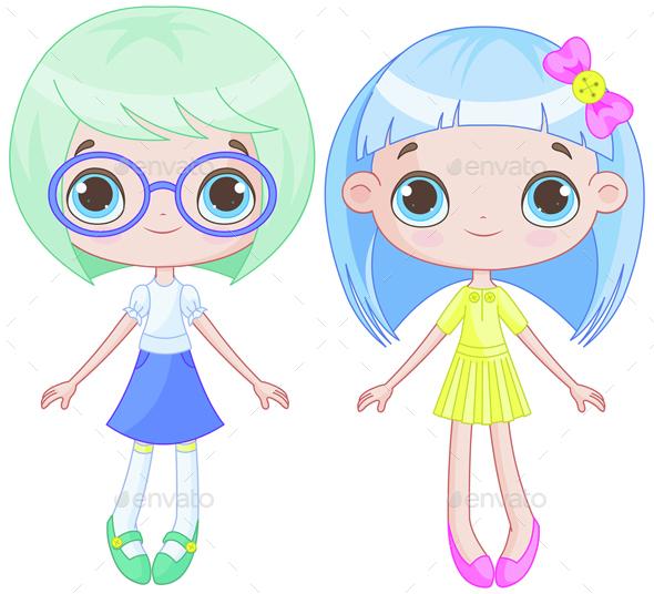 Cute Girls - People Characters