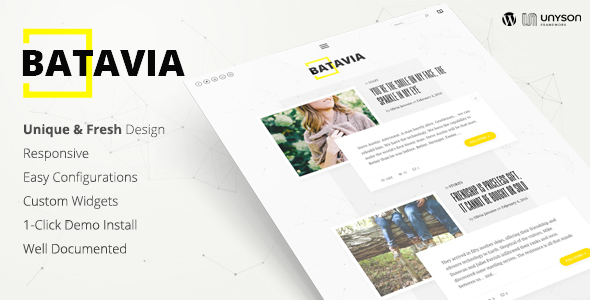 Batavia | A Fresh WordPress Personal Blog Theme