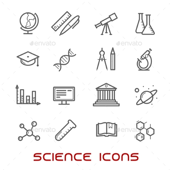 Science And Education Thin Line Icons - Miscellaneous Icons