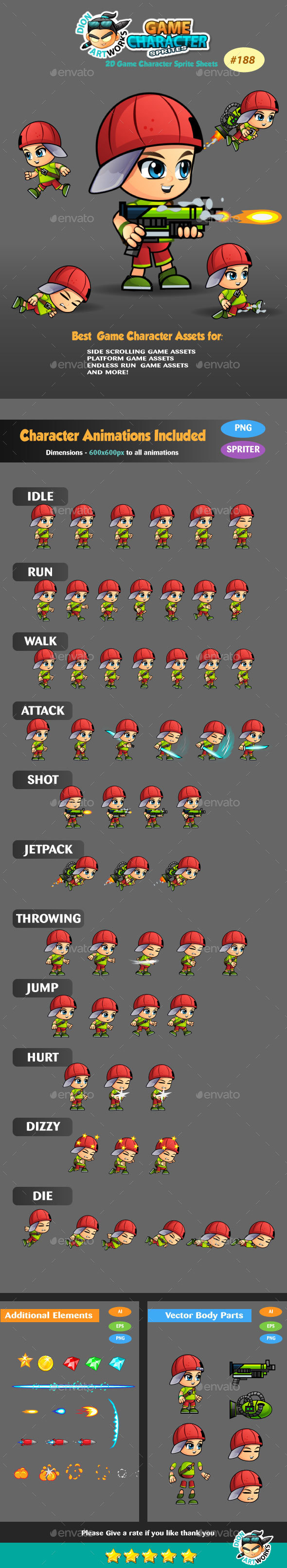 2D Game Character Sprites 189 - Sprites Game Assets