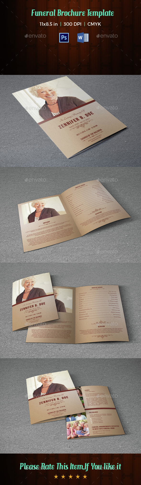 Funeral Program Template-V13 - Informational Brochures