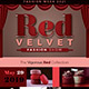 Red Velvet Fashion Show Flyer Template - GraphicRiver Item for Sale