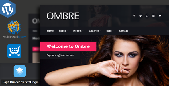 OMBRE - Model Agency Fashion WordPress Theme - Fashion Retail