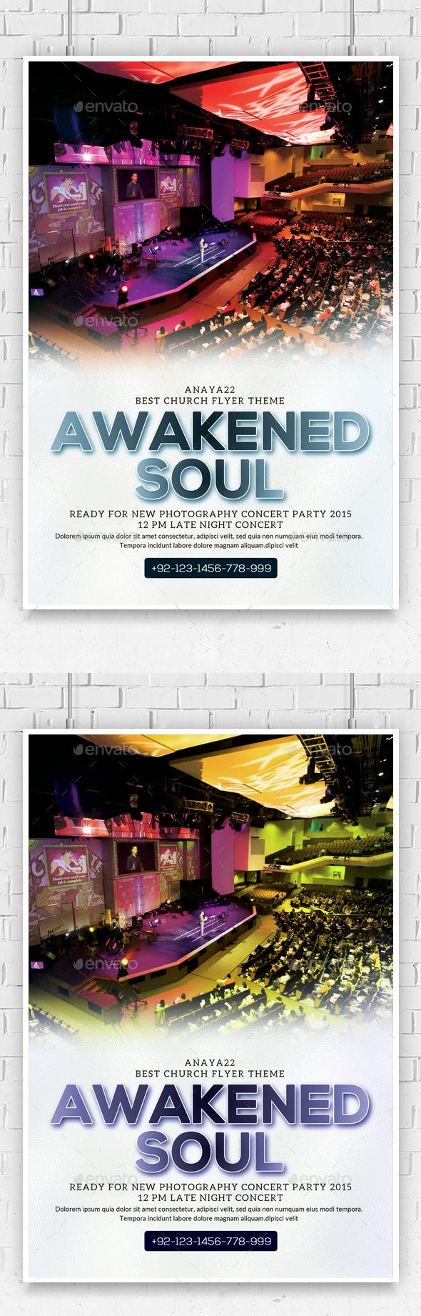 Awakened Soul Church Flyer  - Church Flyers