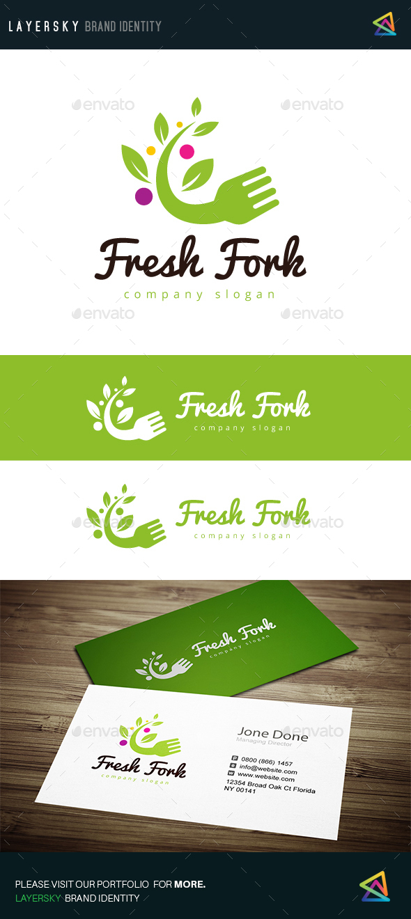 Fresh Fork - Food Logo Templates
