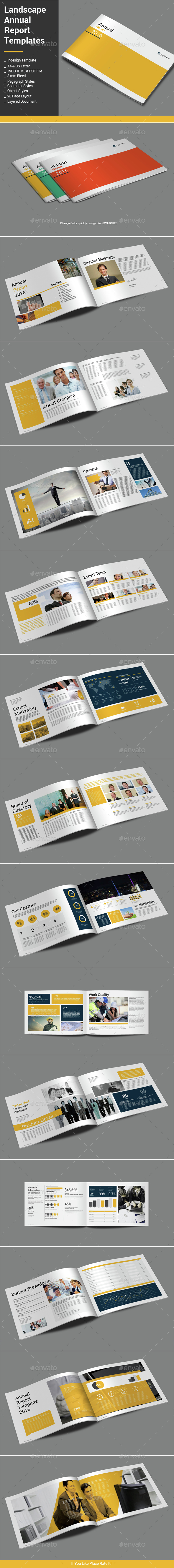 Landscape Annual Report Template - Informational Brochures