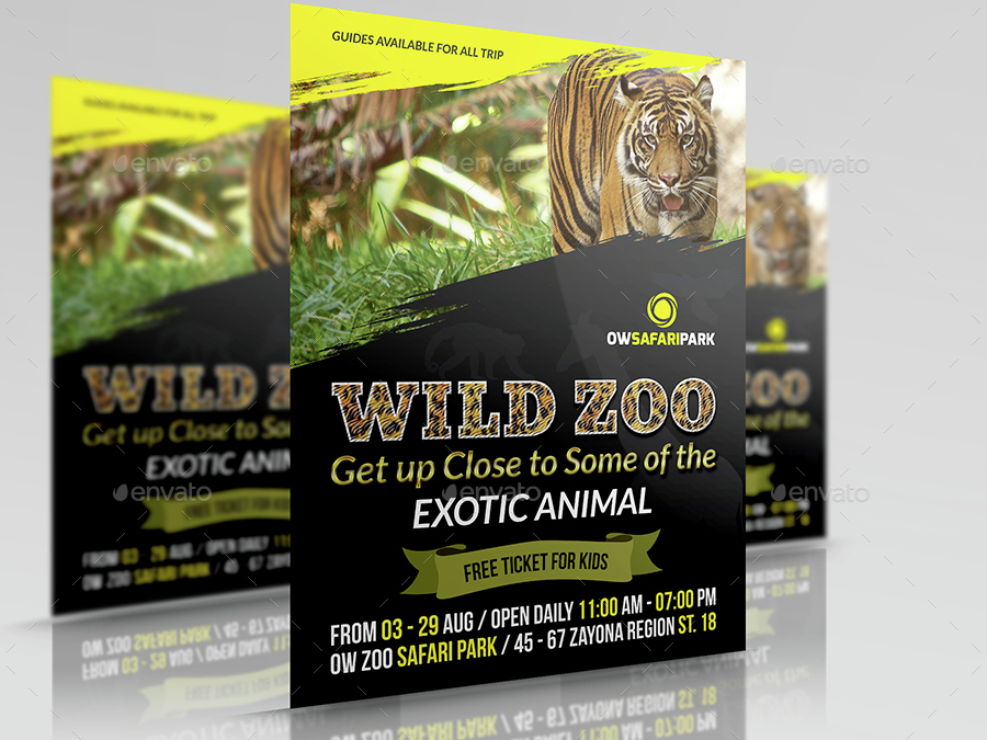 zoo flyer template by owpictures