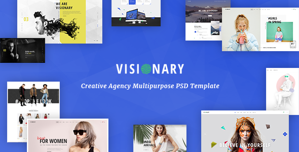 Visionary – Creative Agency Multipurpose PSD Template
