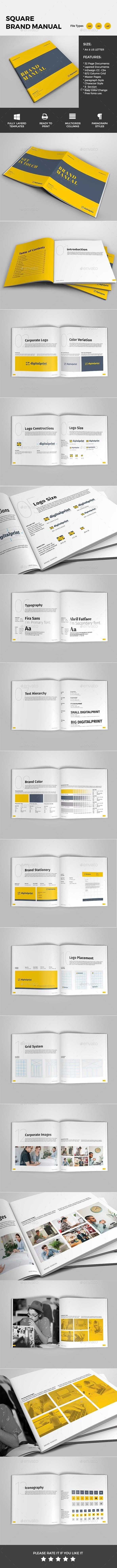Brand Manual - Brochures Print Templates