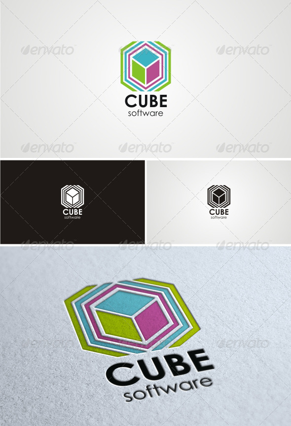 Cube Software - Abstract Logo Templates