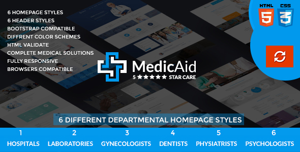 MedicAid – Medical and Hospital – Multipurpose HTML Template