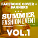 Facebook Covers and Banners - Fashion Summer Event - GraphicRiver Item for Sale