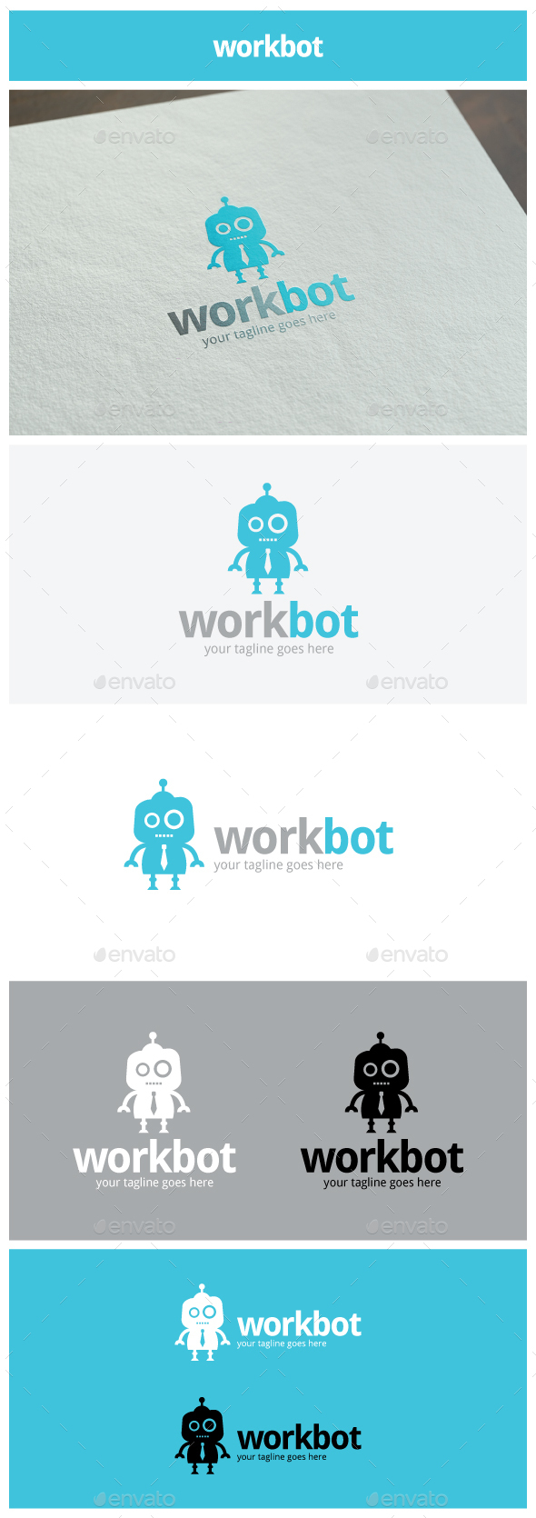 workbot Logo - Objects Logo Templates