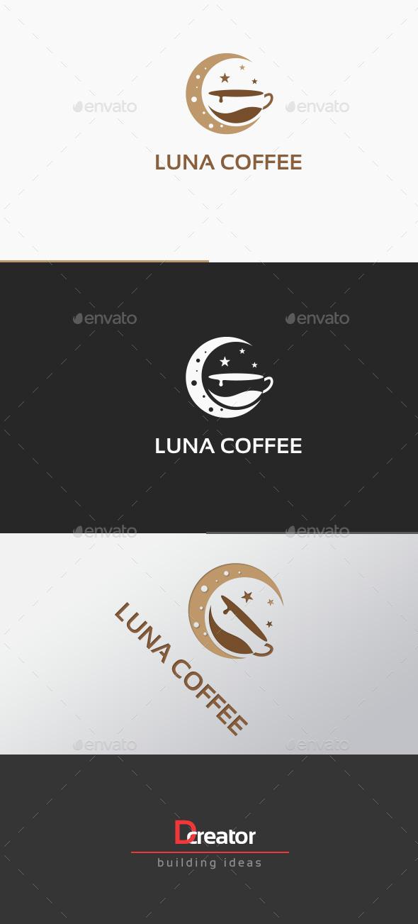Moon Light Coffee Logo - Food Logo Templates