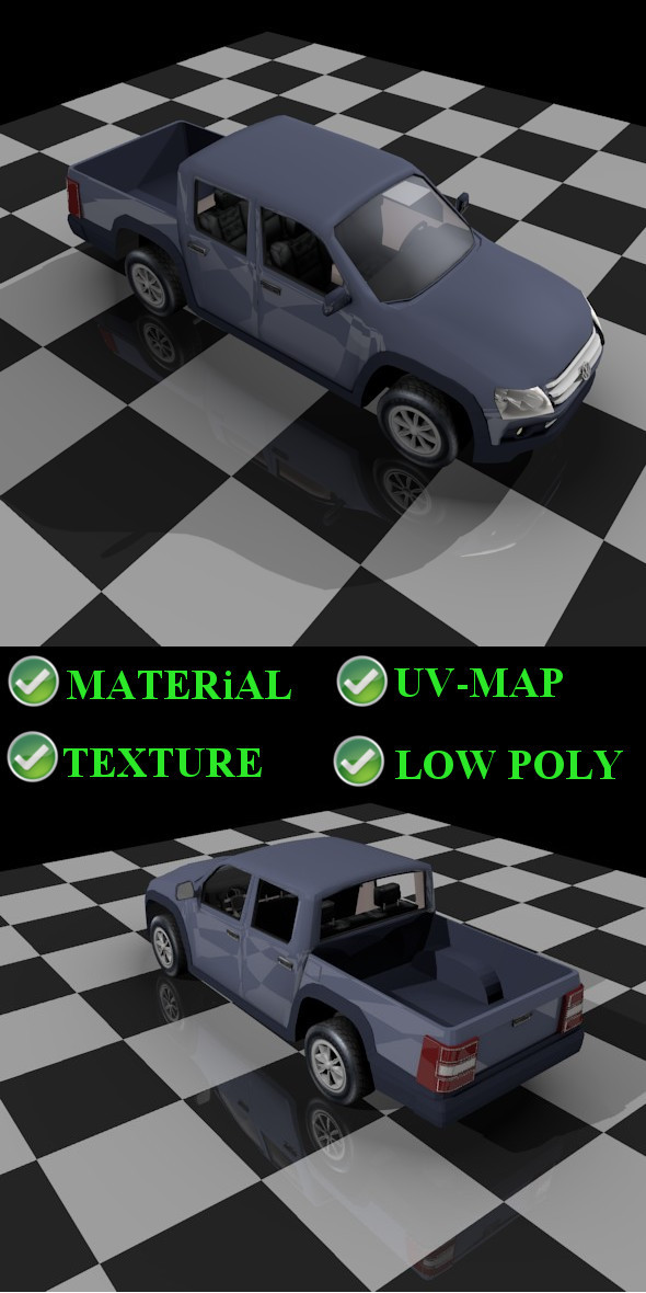 Amarok pickup - 3DOcean Item for Sale