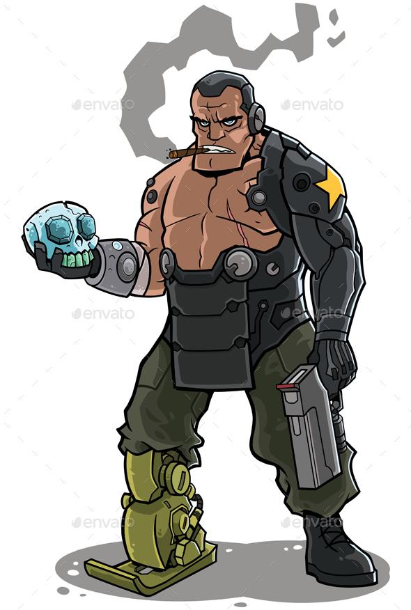 Cyborg - Characters Vectors