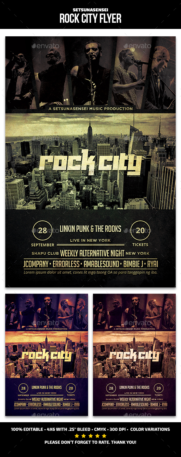 Rock City Flyer - Concerts Events