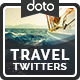 Travel Twitter Headers - 3 Designs - GraphicRiver Item for Sale