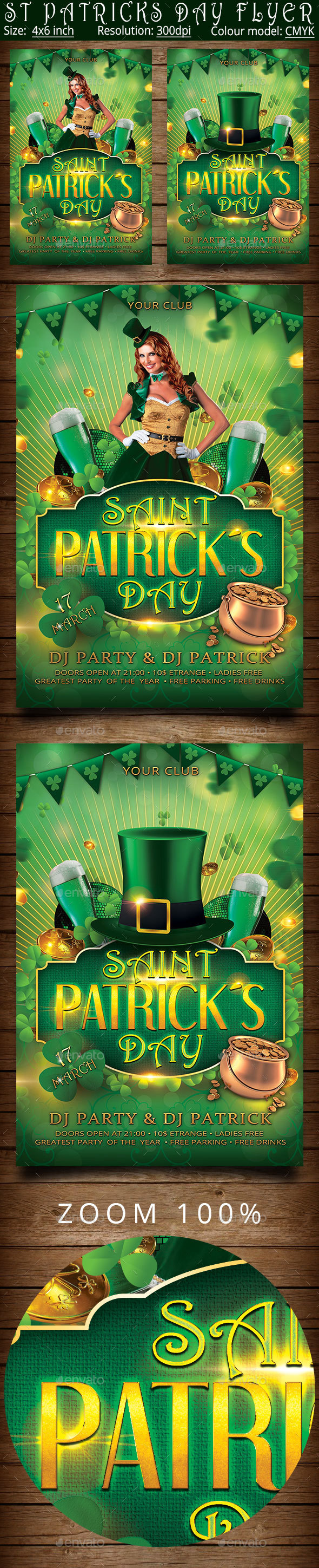 St Patricks Day Flyer Poster Template - Clubs & Parties Events