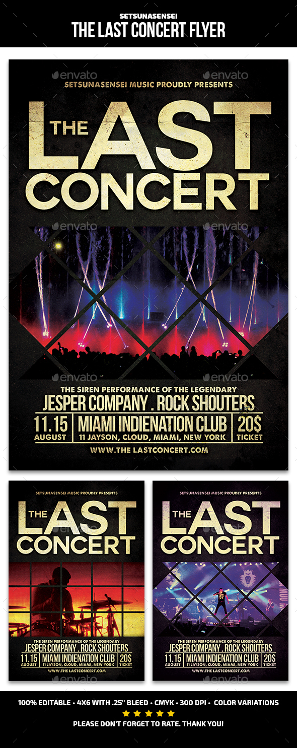 The Last Concert Flyer - Concerts Events