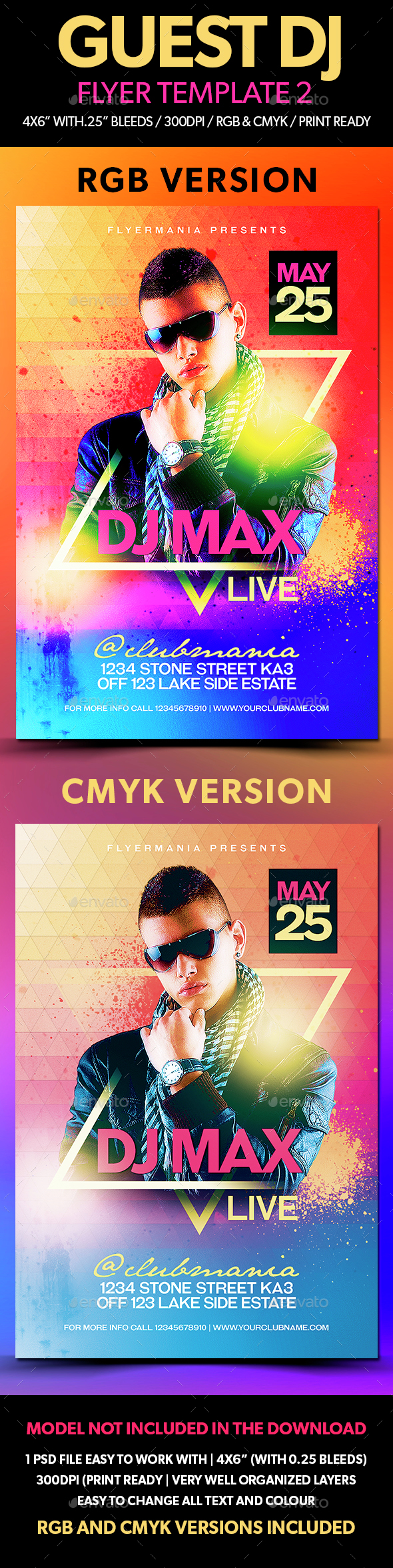 Guest DJ Flyer Template 2 - Clubs & Parties Events