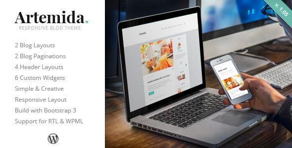 Artemida - Responsive Blog WordPress Theme