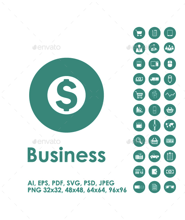 Set of business simple icons - Business Icons