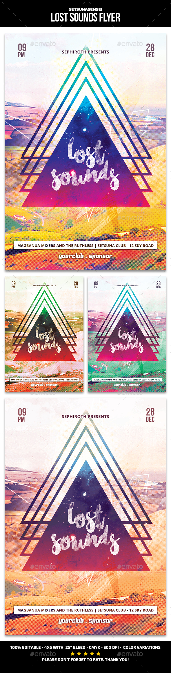 Lost Sounds Flyer - Clubs & Parties Events
