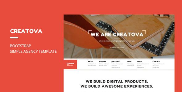 Creatova - Bootstrap Agency Template - Portfolio Creative