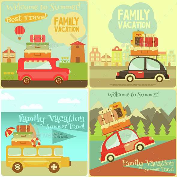 Travel Cards Set - Travel Conceptual